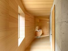 Image 12 of 18 from gallery of Chalet, Val D'hérens / Savioz Fabrizzi Architectes. Photograph by Thomas Jantscher Architecture Design, Residential Architecture, Chalet Interior, Interior Design, Arch Interior, Swiss Chalet, Swiss Alps, Plywood Walls, Wood Cladding