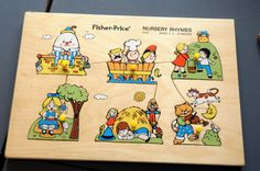 Vintage Antique Wood Tray Puzzle FisherPrice by thesiegmanns, $8.99