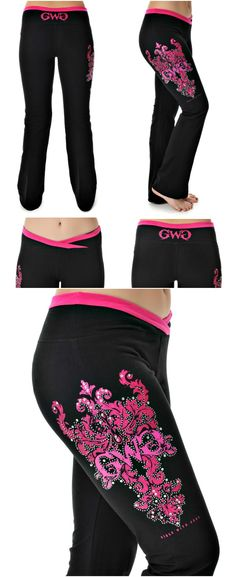The Black & Pink Girls With Guns Clothing Lounge Pants have a very flattering fit and are the most comfortable pair of Yoga Pants a Country Girl could ask for!