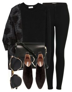 """Untitled #5098"" by laurenmboot ❤ liked on Polyvore featuring Topshop, Yves Saint Laurent, Zara, Chloé, H&M, Christian Dior, women's clothing, women's fashion, women and female:"