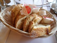 Baguette & butter. Does it get better than that? This is where I now live vicariously through the characters in my books who can eat all they want;) [Image from the Food Junkie Chronicles: Montreal Food Journey - Day 1: Le P'tit Plateau.]