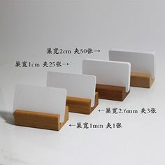 Beech price tag holder message folders cafe pastry shop supermarket shelf commodity price tag restaurant card holder business card holder
