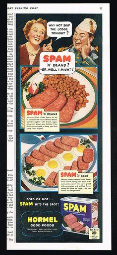 1942 Hormel Spam Canned Meat Lodge Member Tassel Hat Vintage Print Ad | eBay