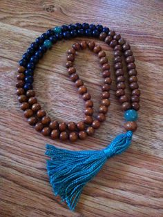 Mala made with jade beads.