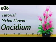 Nylon stocking flowers tutorial #38, How to make nylon stocking flower step by step - YouTube