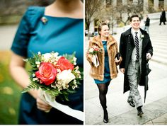 It's a true to life Mad Men elopement... so pretty! Great colors. :)