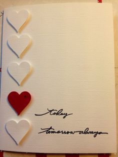 White card for Valentine's Day by Viviansgreetings on Etsy