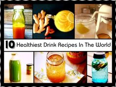 10 Healthiest Drink Recipes In The World .Fill your body with extra vitamins, nutrients and antioxidants with these ten supremely powerful healthy drink recipes. Healthy Herbs, Healthy Work Snacks, Healthy Drinks, Healthy Dinner Recipes, Cooking Recipes, Healthiest Drinks, Detox Drinks, Healthy Tips, Healthy Food