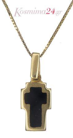 Γυναικείος σταυρός - φυλαχτό διπλής όψεως 14Κ! Arrow Necklace, Jewelry, Jewlery, Jewerly, Schmuck, Jewels, Jewelery, Fine Jewelry, Jewel