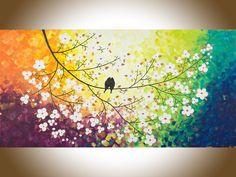 Arcobaleno colore arte originale olio pittura di QiQiGallery