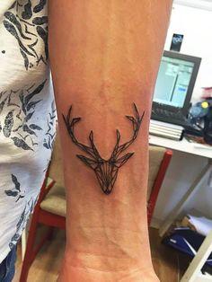 Geometric Deer Head, my first tattoo, made by Villa Ink Tønsberg (Norway) by Tyr Bakkeid - Imgur