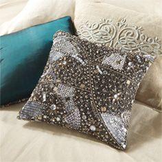 Paragon Grey Shimmer Pillow--Arhaus.