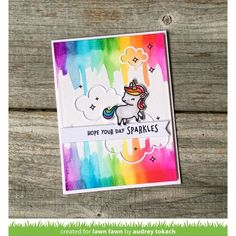 Lawn Fawn Intro: Seahorsin' Around + A Little Sparkle - Lawn Fawn Dibujos Zentangle Art, Tarjetas Diy, Paper Crafts Magazine, Unicorn And Fairies, Lawn Fawn Blog, Lawn Fawn Stamps, Scrapbooking, Heartfelt Creations, Outdoor Christmas Decorations