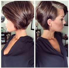 cute short pixie hairstyles for women - Frisur Kurz - Cheveux Femme Short Hairstyles For Thick Hair, Short Hair Cuts, Short Hair Styles, Short Pixie Bob, Layered Bob Short, Edgy Pixie, Short Womens Hairstyles, Short Layered Hairstyles, Short Layers