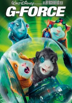 Buckle up for thrilling edge-of-your-seat action and laugh-out-loud fun in Disney's family comedy adventure G-Force. Just as the G-Force — an elite team of highly trained guinea pigs — is about to save the world, the F.B.I. shuts the secret unit down. But these next-generation action heroes — Darwin, loyal team leader