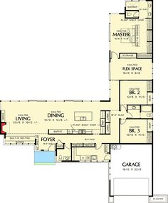 Plan 69401AM: Long U0026 Low California Ranch. Modern HousesTiny ...