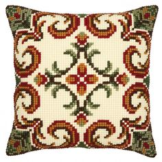 """""""Geometrical"""" counted cross-stitch cushion kit by Vervaco ( Cross Stitch Kits, Cross Stitch Charts, Cross Stitch Designs, Cross Stitch Patterns, Cross Stitching, Cross Stitch Embroidery, Broderie Bargello, Make Your Own Pillow, Cross Stitch Cushion"""