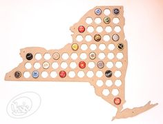 New York Beer Cap Map. Beer Cap Map will be а perfect gift! Simple and beautiful Beer Cap Map always decorate your home, hallway, room, office, garage, bar