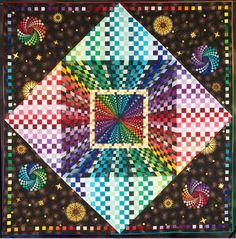 """""""Space Wonder"""" by Beth Nufer, winner for  Best Visual Image,  2013 Road to California quilt show"""