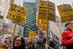 Protesters hit the streets on Friday, April 7, 2017, with an immediate rejection of the Trump Administration's war escalation and the ongoing U.S.-backed war against the Syrian people. In New York, protesters converged outside Trump Tower and Union Square for a rally and march, to reject Washington's latest war and demand that the trillions spent for war abroad be used instead for people's needs like jobs, housing, healthcare, reproductive rights and daycare.