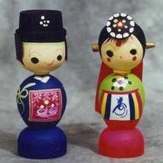 Korean wedding doll Cake toppers