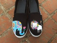 Wild Animals Custom Hand-Painted Shoes (Any Whole Size, Men's or Women's, Please Specify When Ordering)