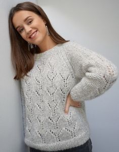 Hulsweater i Air Mohair Sweater, Handicraft, Knitwear, Knit Crochet, Diy And Crafts, Street Wear, Pullover, Wool, Sewing