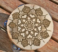 Henna Mandala Tambourine via Etsy