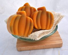 Organic Goat Milk Soap 3 Pumpkin Shaped Cold by SweetSallysSoaps, $11.50