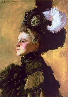 Portrait of the Artist's Wife - Józef Mehoffer (1907) (Polish, 1869-1946)