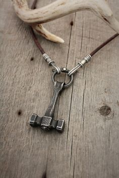 Forged hammer necklace