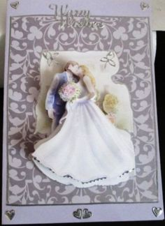 A card any grandaughter woud be thrilled to receive. thank You Rose for sharing this with us. Scrapbook Supplies, Decoupage, Card Making, Rose, Wedding Dresses, Cards, Blog, Traditional, Inspiration