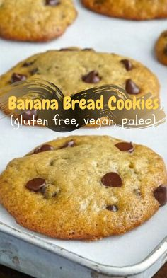 Banana Bread Cookies (gluten free, vegan, paleo) Recipe - At Banana Bread Brownies, Banana Bread Cookies, Paleo Banana Bread, Banana Bread Recipes, Healthy Banana Cookies, Low Carb Cookies, Cookies Gluten Free, Gluten Free Desserts, Vegan Gluten Free