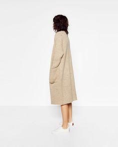 Image 3 of KNIT MAXI COAT from Zara