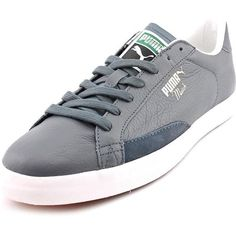 new style c0863 e8463 Puma Match Vulc Mens Sneakers (235 DKK) ❤ liked on Polyvore featuring shoes,  sneakers, grey, puma shoes, leather trainers, real leather shoes, ...