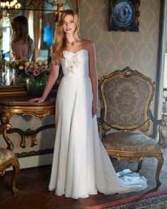Plus Size Wedding Dresses 2016 Beach Wedding Dresses By Elbeth Gillis Strapless Ruched Beaded Chiffon A Line Romantic Bridal Gowns With Sweep Train Wedding Dresses Classic From Nicedressonline, $150.79| Dhgate.Com