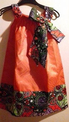 Robe en wax et bazin pour enfant par winigajoy - Vêtements Enfants - Afrikrea