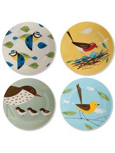 Hunkydory Birdy plates