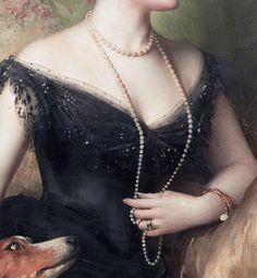 Mrs Mary Venetia James, née Cavendish-Bentinck (1895) (detail) by Sir Samuel Luke Fildes (1843-1927)