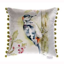 REDUCED   'Woody' Woodpecker Velvet Cushion by Voyage Maison