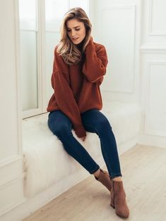 'Thelma' High-neck Knitted Sweater (4 Colors) #fashion #ad