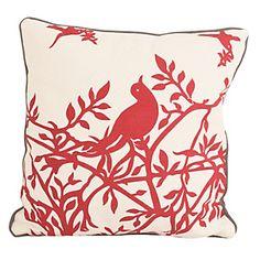 Almohadón Pájaro Herba Rojo-Falabella.com