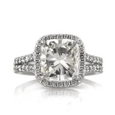 Cushion Cut  Engagement Diamond Ring