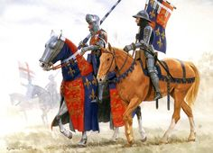 Duke of Clarence at the disastrous Battle of the Bauge against the French and the Scots. Hundred Years War