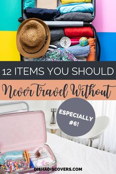 Packing Tips: 12 Not so Obvious Items You Shouldn't Travel Without - Are you going on a vacation, but you have no idea what to pack? Read my packing list so you don't forget these crucial items on your travels. Vacation Packing, Packing List For Travel, Packing Lists, Time Travel, Travel Advice, Travel Hacks, Budget Travel, Travel Ideas, Travel Inspiration