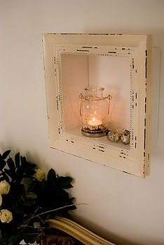 White wooden box frame I love the sweetness of this frame.... so me!!!!