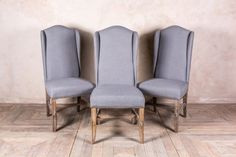FRENCH STYLE DINING CHAIRS IN FROST GREY LINEN