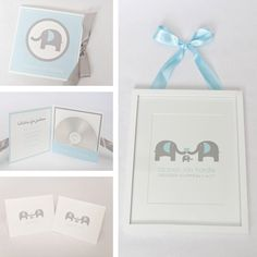 Elephant Baby Shower/Birthday Gift Set-Printable PDF file with EDITABLE TEXT