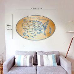 USA engraved custom wooden panel