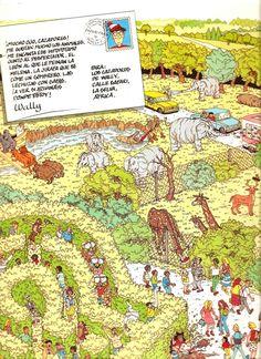 El primer libro de Wally completo: ¿Dónde está Wally? Wheres Waldo, Random Things, Parks, Book, Random Stuff, Wheres Wally